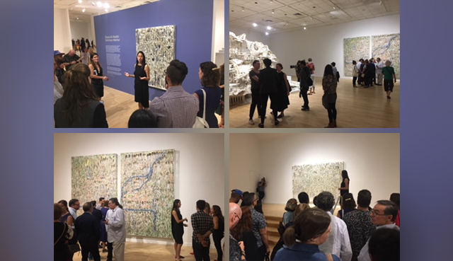 "Lauren Schell Dickens, curator, gives a tour of ""Diana Al-Hadid: Delirious Matter"""
