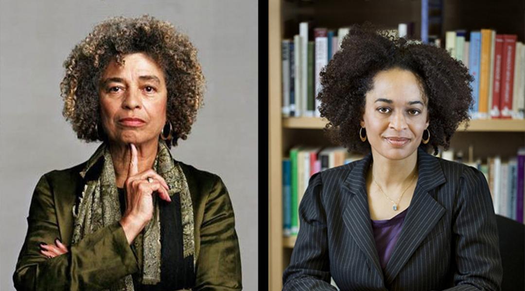 Headshots of Angela Y. Davis and Gina Dent.