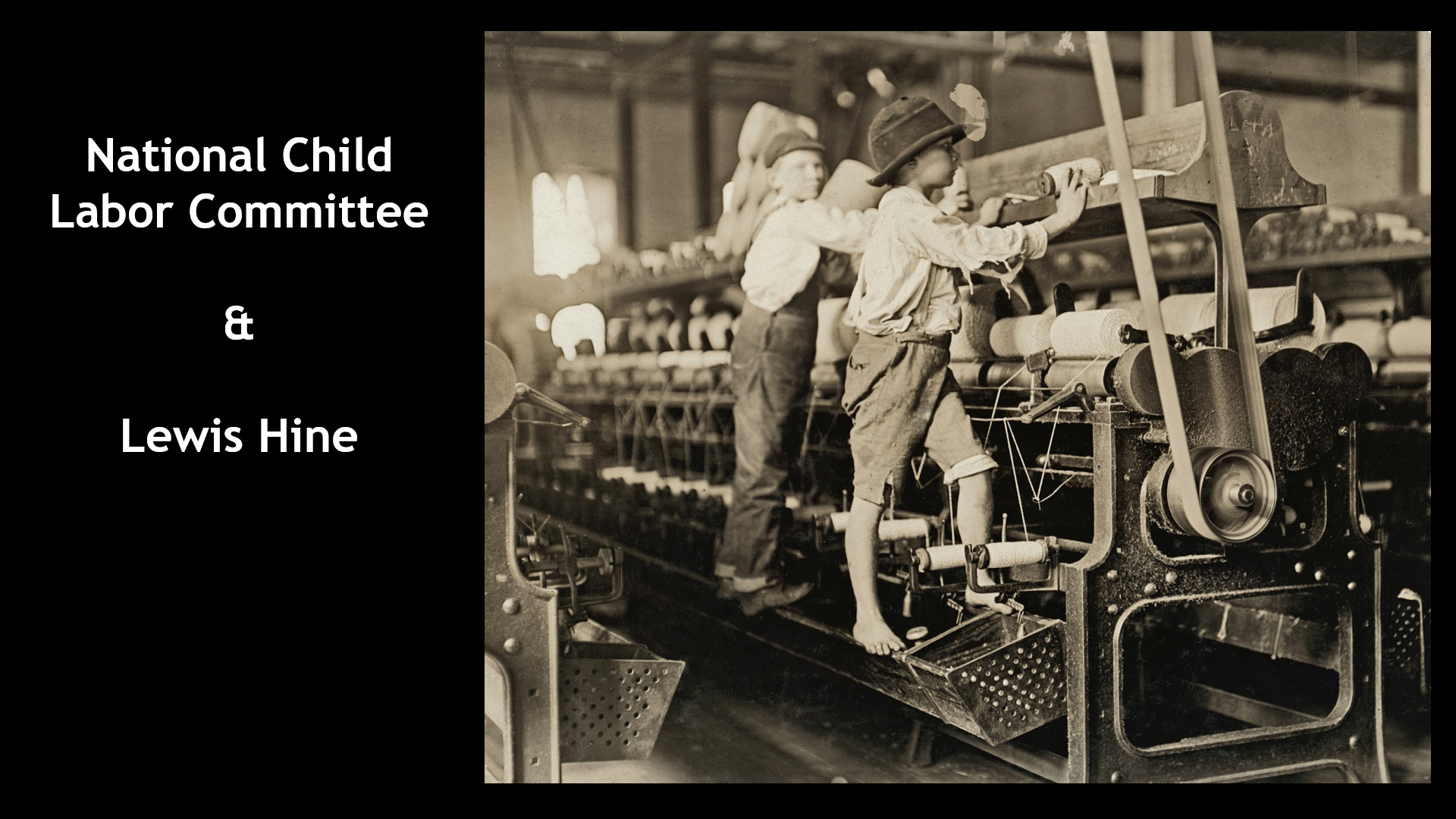 National Child Labor Committee and Lewis Hine