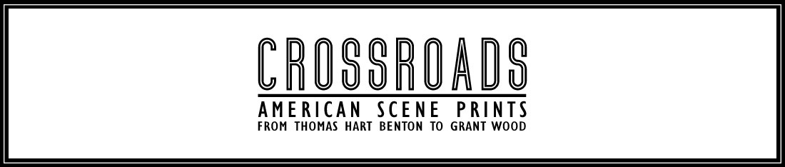 Take a deeper look at Crossroads: American Scene Prints from Thomas Hart Benton to Grant Wood
